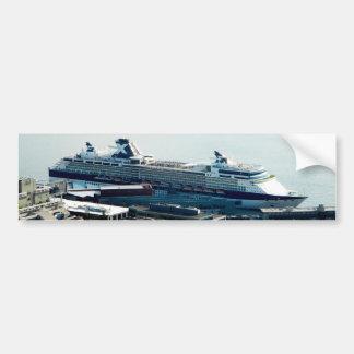Barco de cruceros pegatina para auto
