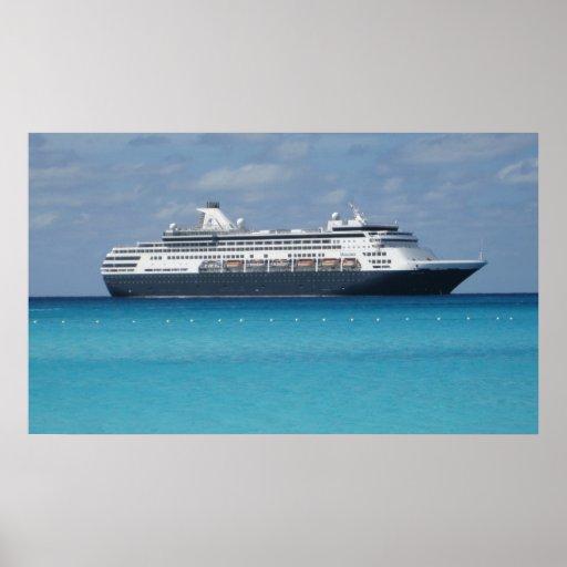 Barco de cruceros póster