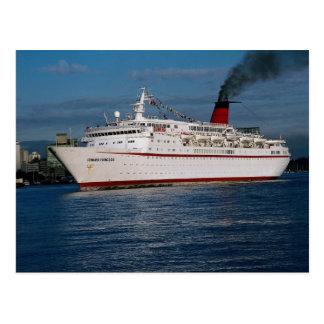"Barco de cruceros ""princesa de Cunard "" Tarjetas Postales"