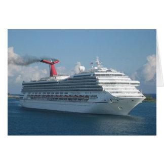 Barco de cruceros tarjeta de felicitación