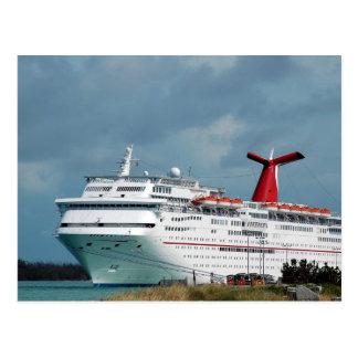barco de cruceros tarjeta postal