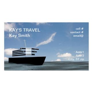 barco de cruceros tarjetas de visita