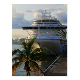 Barco de cruceros tarjetas postales