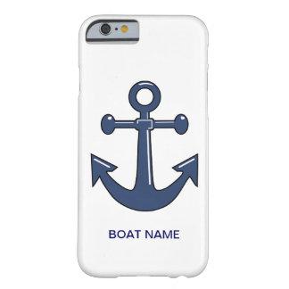 Barco de encargo Namecase del ancla azul náutica