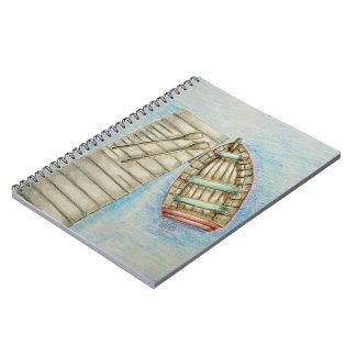 Barco de fila libreta espiral