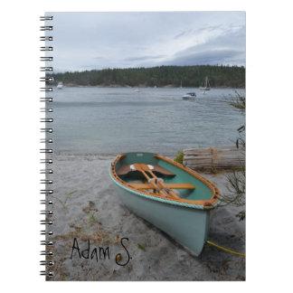 Barco de fila personalizado en el cuaderno de la