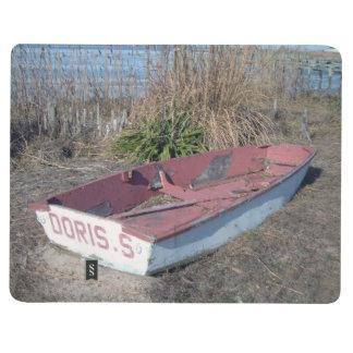 Barco de fila rústico viejo cuaderno