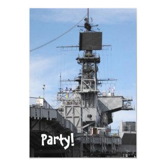Barco de la Armada Invitación 12,7 X 17,8 Cm