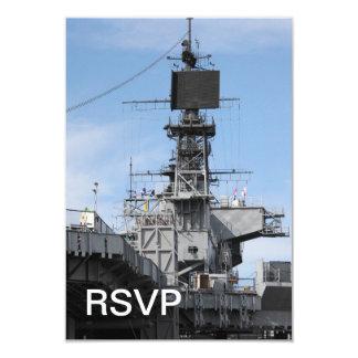 Barco de la Armada Invitación 8,9 X 12,7 Cm