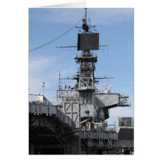Barco de la Armada Tarjeta De Felicitación