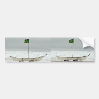 Barco de la caza de ballenas pegatina de parachoque