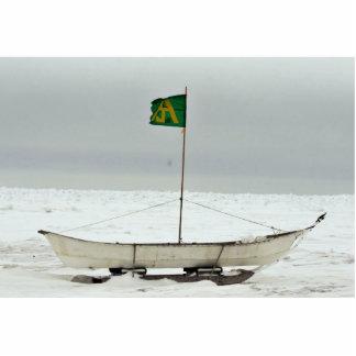 Barco de la caza de ballenas esculturas fotográficas