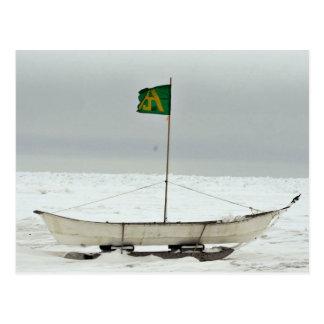 Barco de la caza de ballenas postales