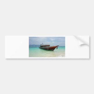barco de la cola larga en Tailandia Pegatina Para Auto