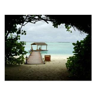 Barco de la isla de Maldivas Postal