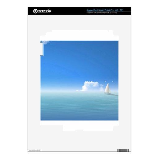 Barco de la isla del agua iPad 3 pegatina skin