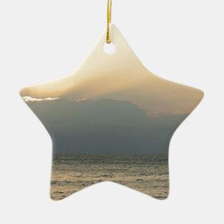 Barco de la isla del Fijian Adorno De Cerámica En Forma De Estrella