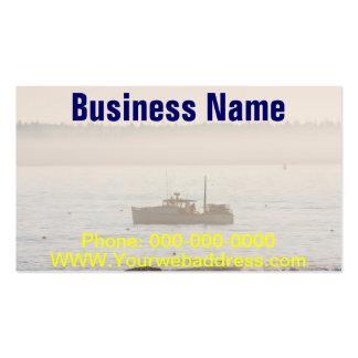 Barco de la langosta de la isla desierta Maine del Tarjetas Personales