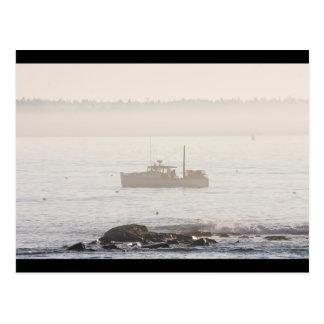 Barco de la langosta de la isla desierta Maine del Tarjeta Postal