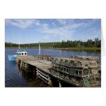 Barco de la langosta, Mushaboom, Nueva Escocia, Ca Felicitaciones