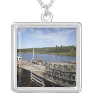 Barco de la langosta, Mushaboom, Nueva Escocia, Colgante Cuadrado