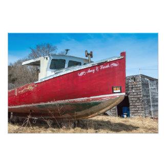 Barco de la langosta para la venta impresiones fotográficas