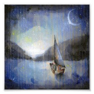Barco de la luna - impresión del arte del ejemplo  arte fotográfico