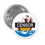 Barco de la nave de la censura pin