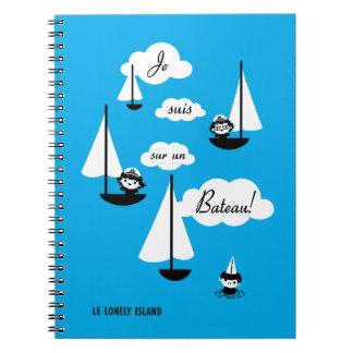 ¡Barco de la O.N.U del sur de los suis de Je! Libros De Apuntes