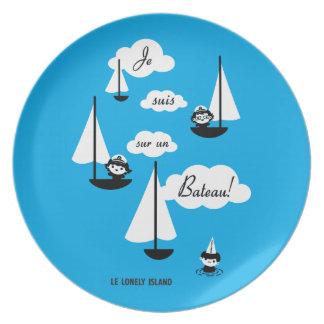 ¡Barco de la O.N.U del sur de los suis de Je! Platos De Comidas