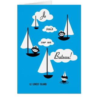 ¡Barco de la O.N.U del sur de los suis de Je! Tarjeta