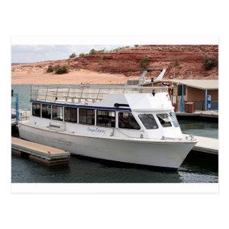 Barco de la odisea del barranco, lago Powell, Tarjeta Postal