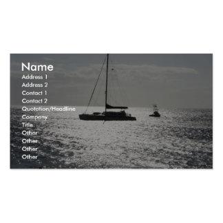 Barco de la orilla de Maui Tarjetas De Visita