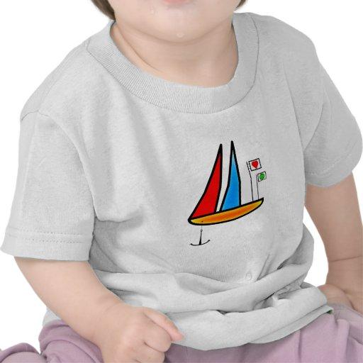 Barco de la paz camiseta