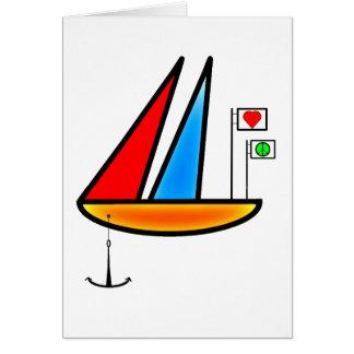 Barco de la paz tarjeta de felicitación