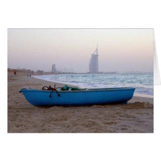 barco de la playa de Dubai Tarjetón