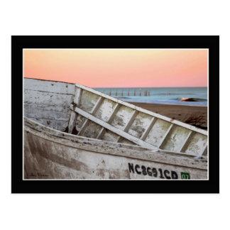 Barco de la resaca tarjeta postal