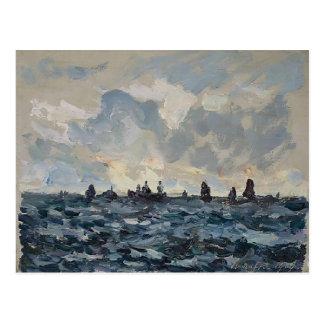 Barco de la sardina de la pesca de Máximo Maufra- Tarjetas Postales