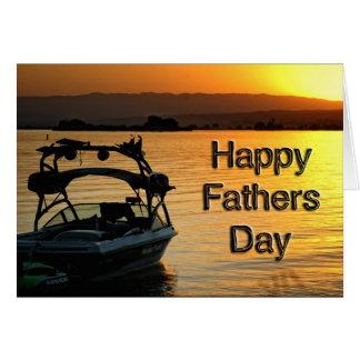 Barco de la tarjeta del día de padre
