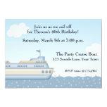 Barco de la travesía, invitación temática náutica invitación 12,7 x 17,8 cm