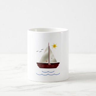 Barco de la vela del niño tazas