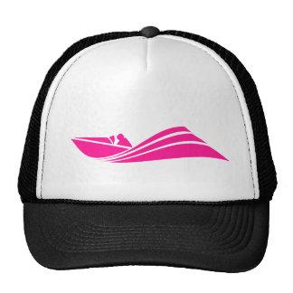 Barco de la velocidad de las rosas fuertes gorro de camionero