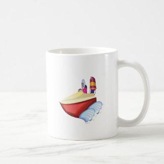 Barco de la velocidad taza de café