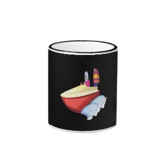 Barco de la velocidad tazas de café