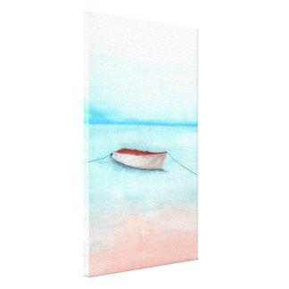 Barco de las aguas de Elafonisi Impresión En Lienzo