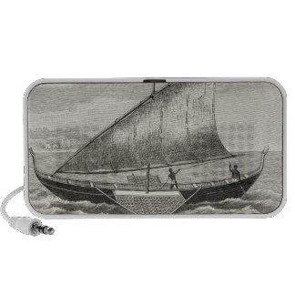 Barco de las islas de Mortlock con el soporte Altavoces De Viaje