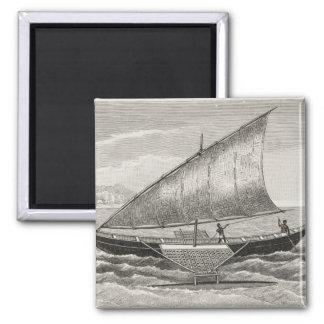 Barco de las islas de Mortlock con el soporte Imanes