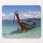 Barco de Longtail - Tailandia Mousepad Alfombrilla De Ratón