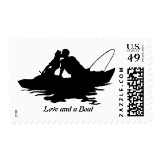 Barco de los amantes de la pesca sellos