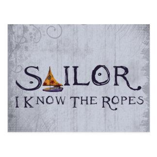Barco de los marineros tarjeta postal